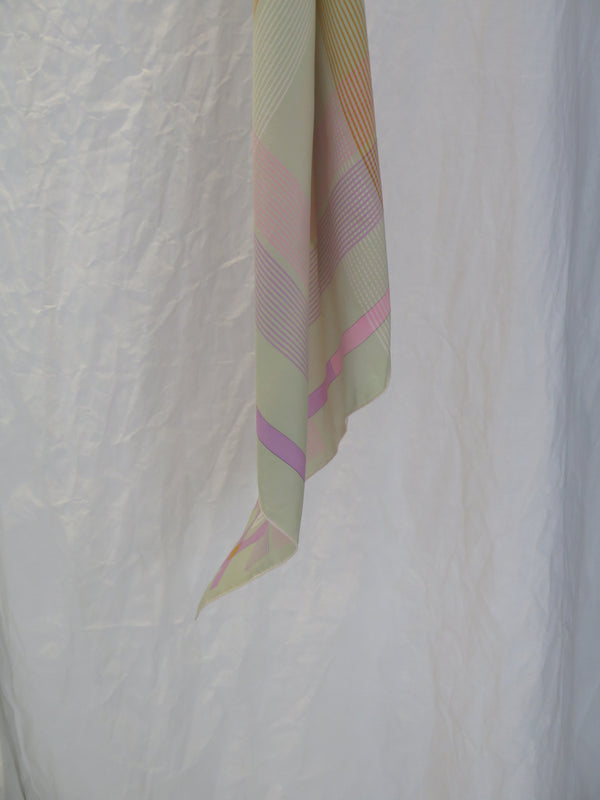 Christian Dior Signature Pastel Colors Silk Scarf