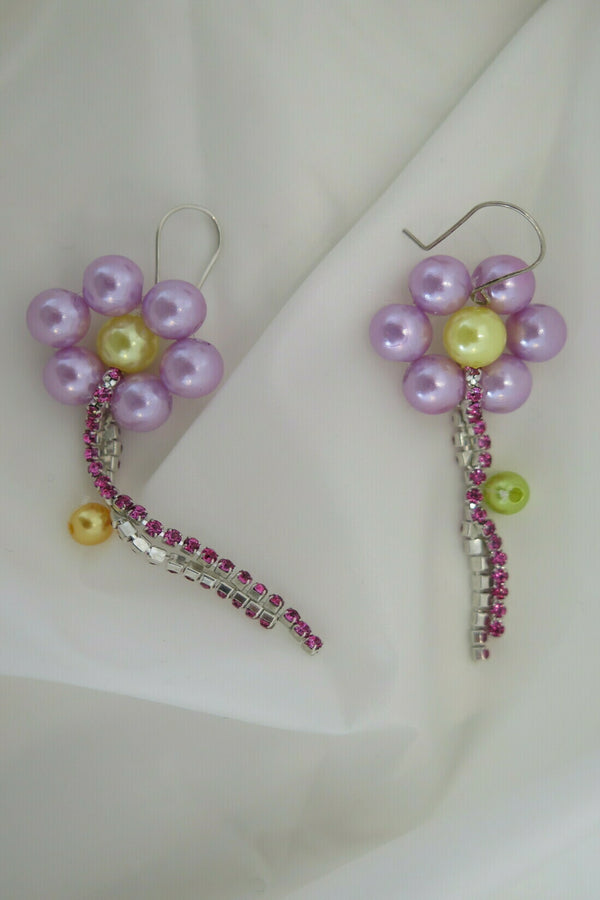 Rikke Sandbugt Flower Long Stam Earrings