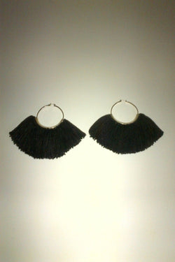 Erin Considine Ridge Fringe Hoops With Black Silk