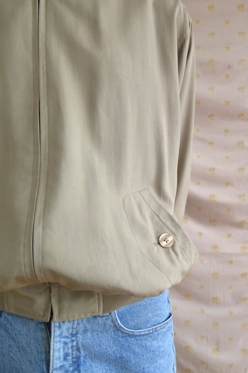 Sand Silk Zipper Jacket - Studio Travel