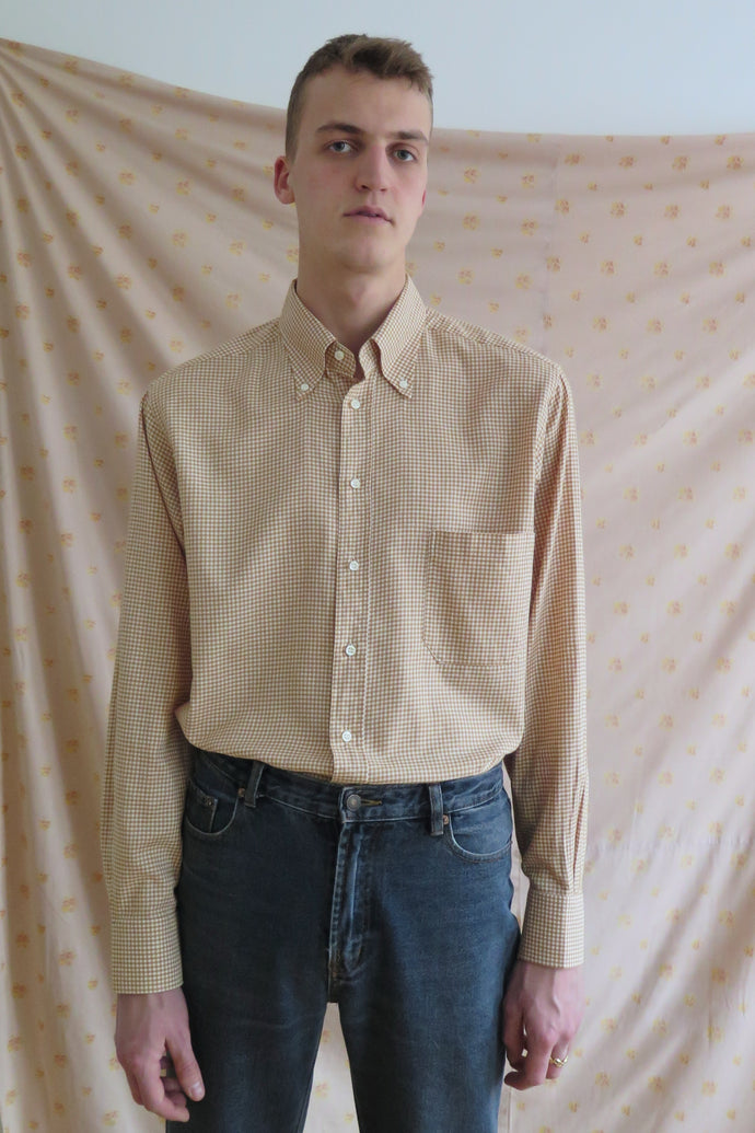 Checked Cotton Shirt - Studio Travel