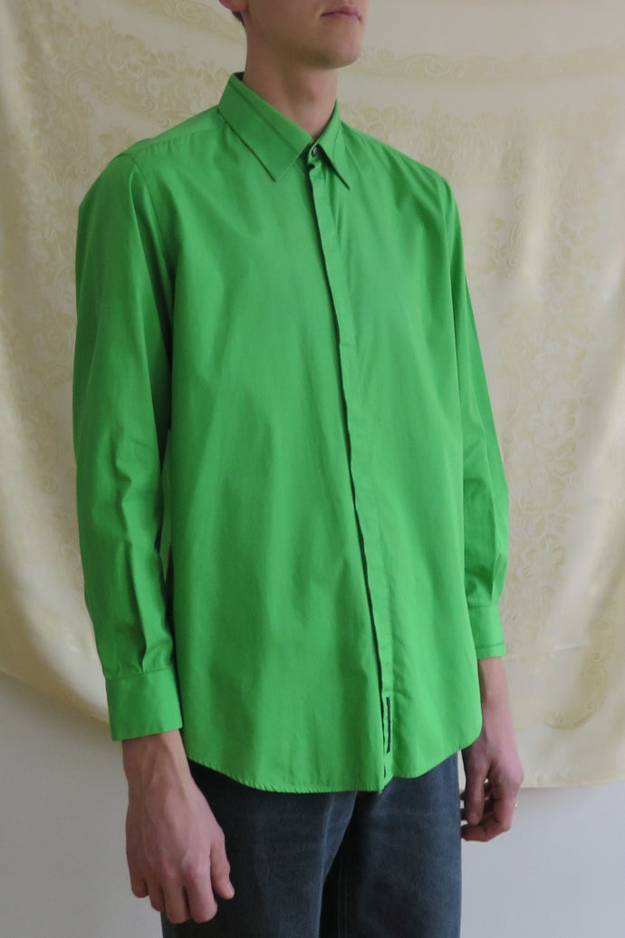Versace Green Cotton Shirt - Studio Travel