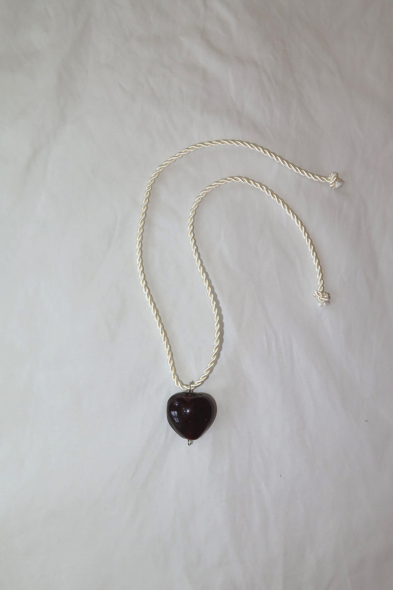 Murano Glass Heart Necklace