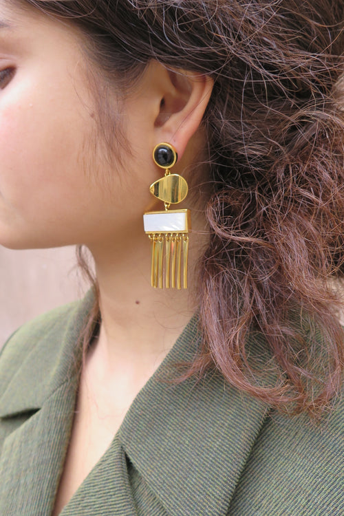 Lizzie Fortunato Sculptural Con-Dao Earrings - Studio Travel