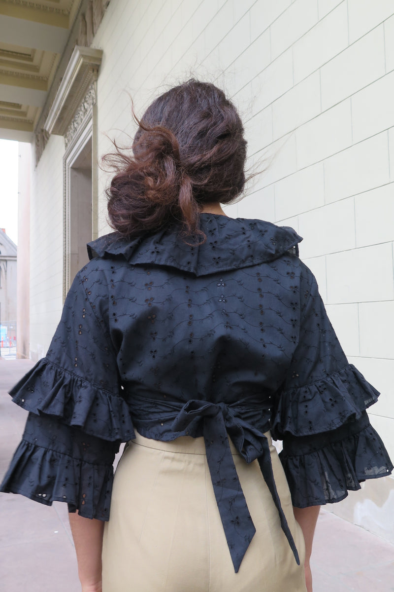 Vintage Bolero Ruffle Shirt - Studio Travel