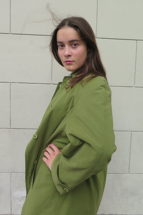 Oliver by Valentino Olive Green Coat - Studio Travel