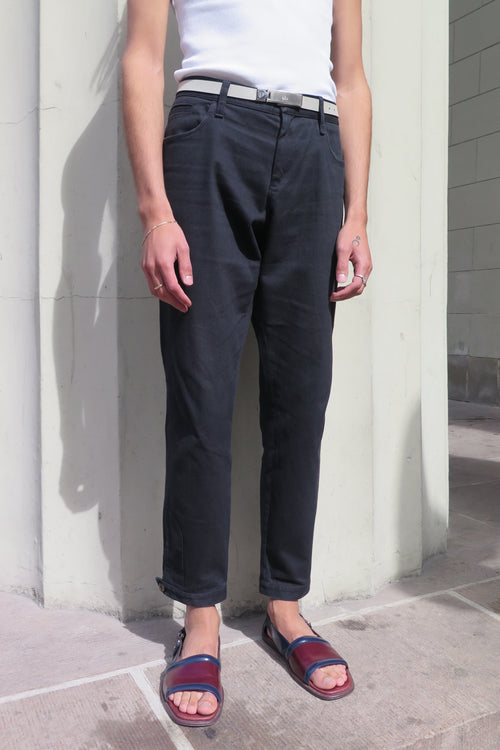 Gucci Black Button Cuffed Trousers - Studio Travel