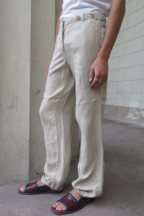 Prada Beige Silk Pants - Studio Travel