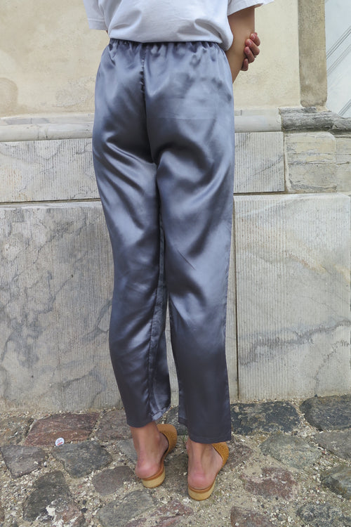Vintage Silky Dark Grey Pants - Studio Travel