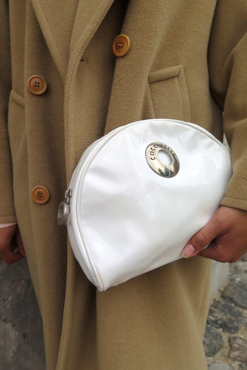 Coccinelle White Patent Clutch - Studio Travel