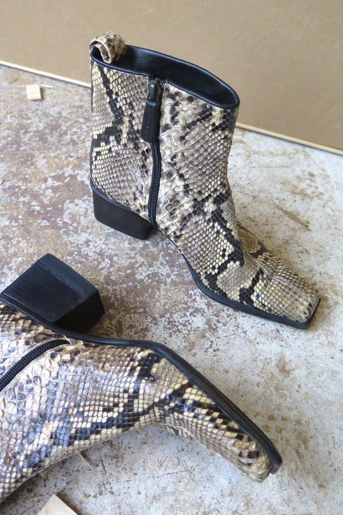 Sergio Rossi Snake Skin Booties - Studio Travel