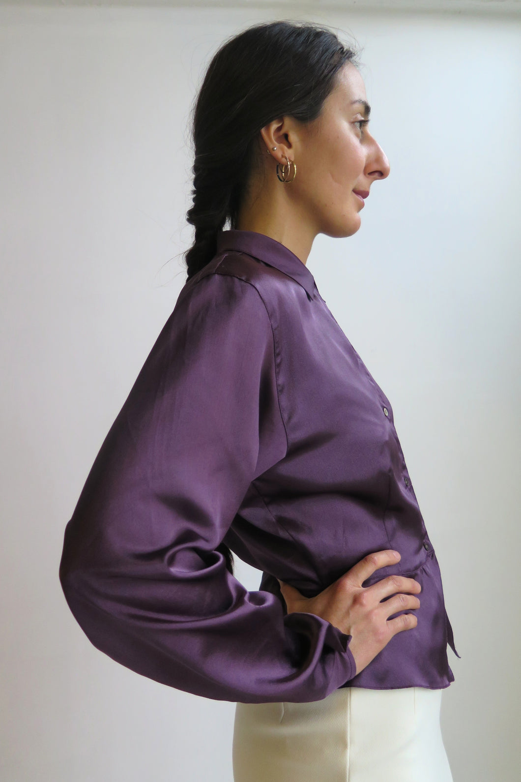 Pennyblack Plum Satin Shirt - Studio Travel