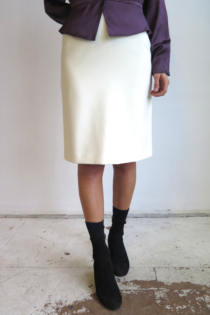 Versus Off-White Pencil Skirt - Studio Travel