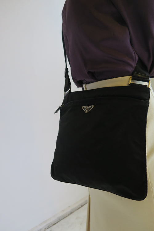 Prada Black Nylon Crossbody Bag - Studio Travel