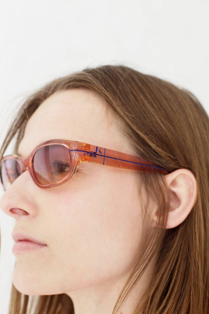 Krizia Pink Seethrough Sunglasses