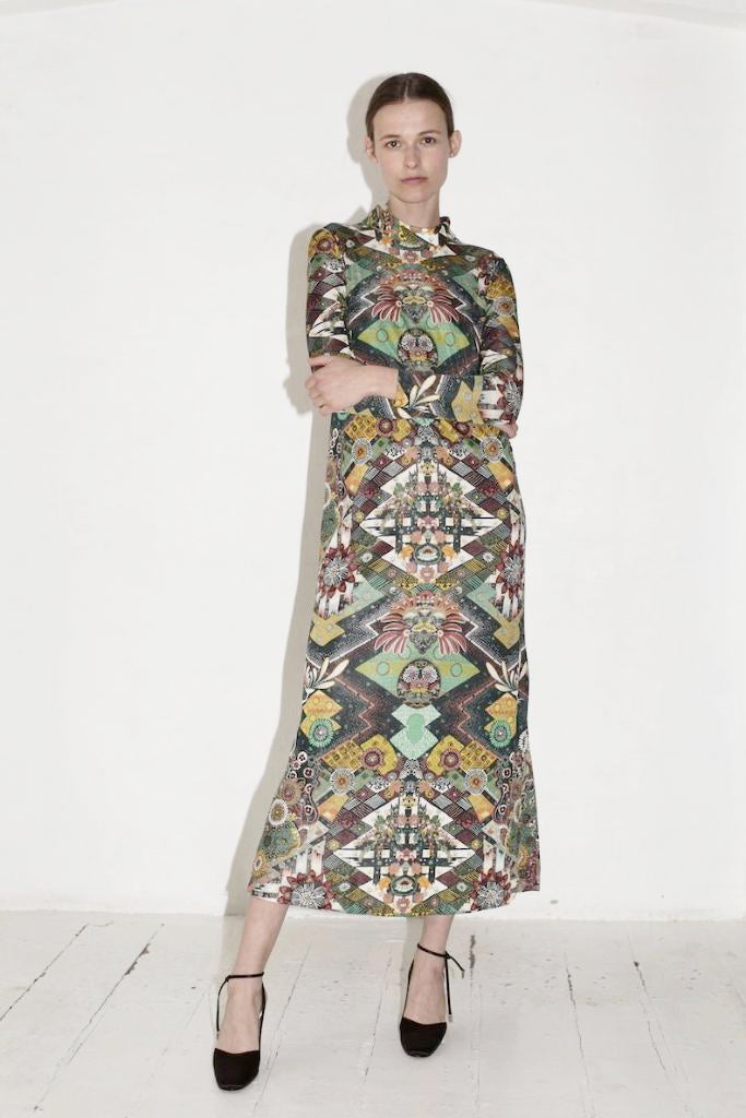 Floorlength Pattern Dress