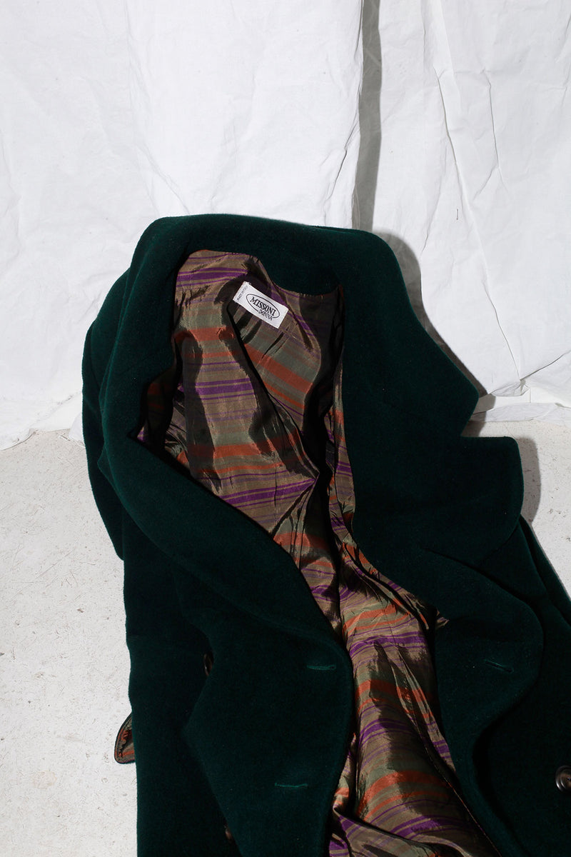 Missoni Forest Green Wool Coat