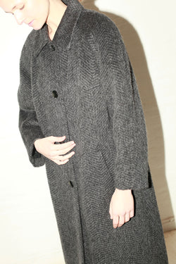 Ilia Grey Mohair Coat