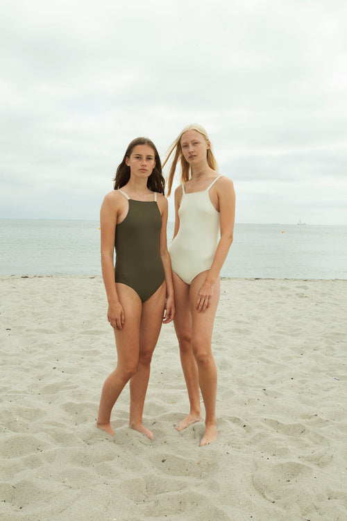 Army Green One-Piece Swimsuit