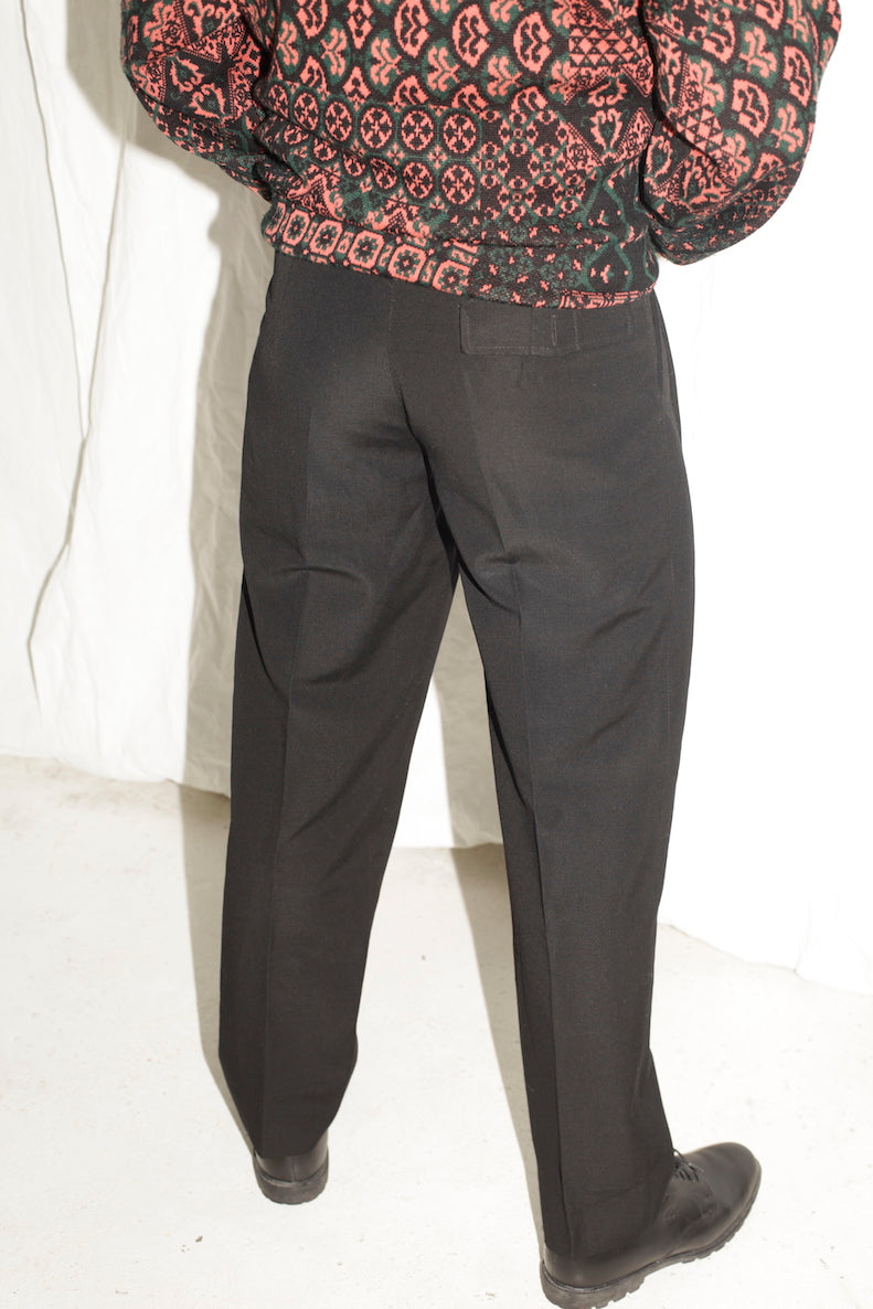 Black Tailored Wool Trousers