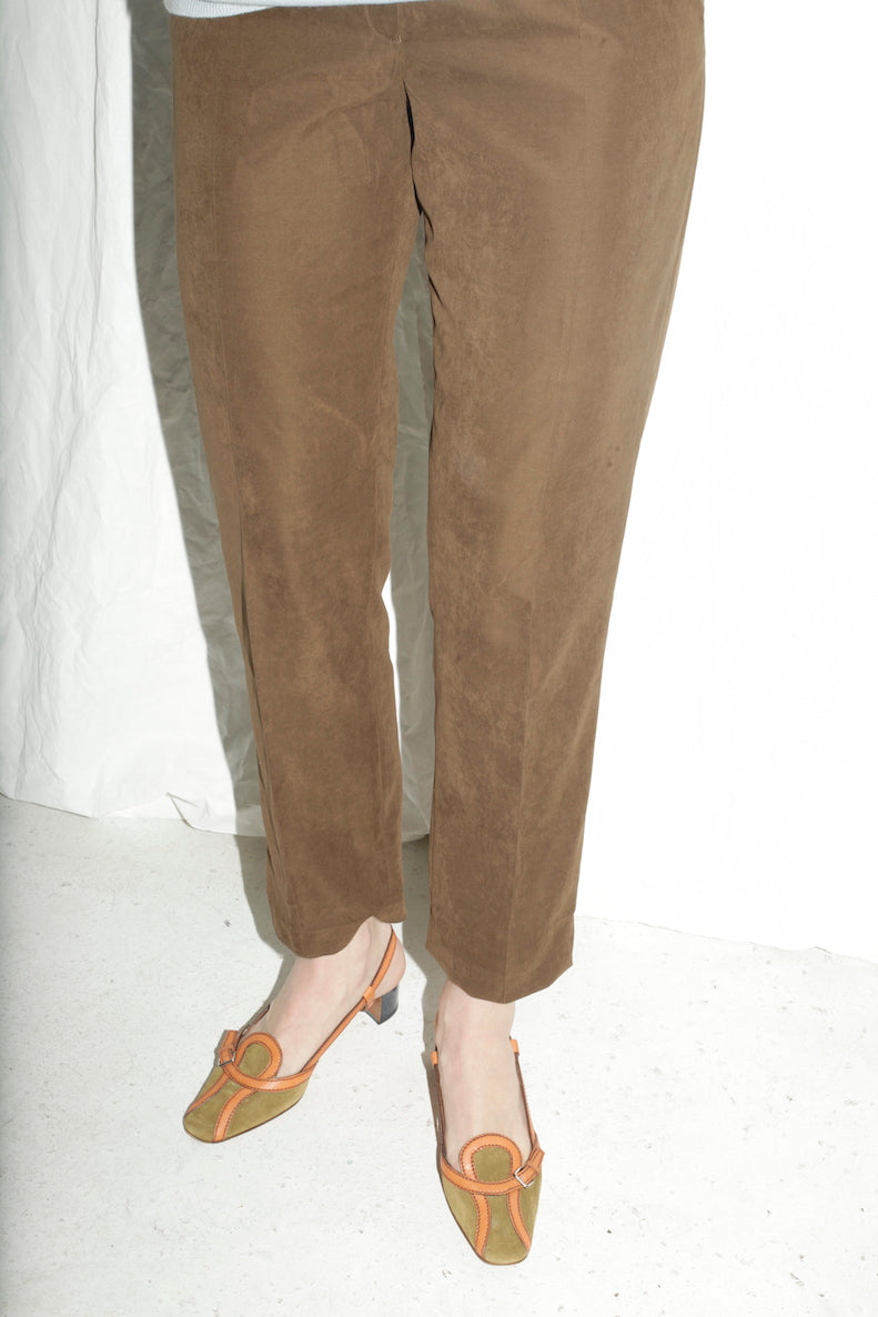 Classic Highwaisted Green Trousers