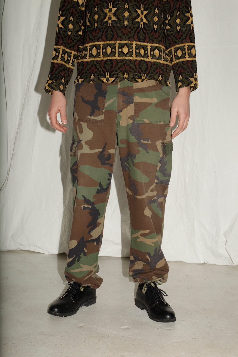 Army Camoflage Cotton Trousers