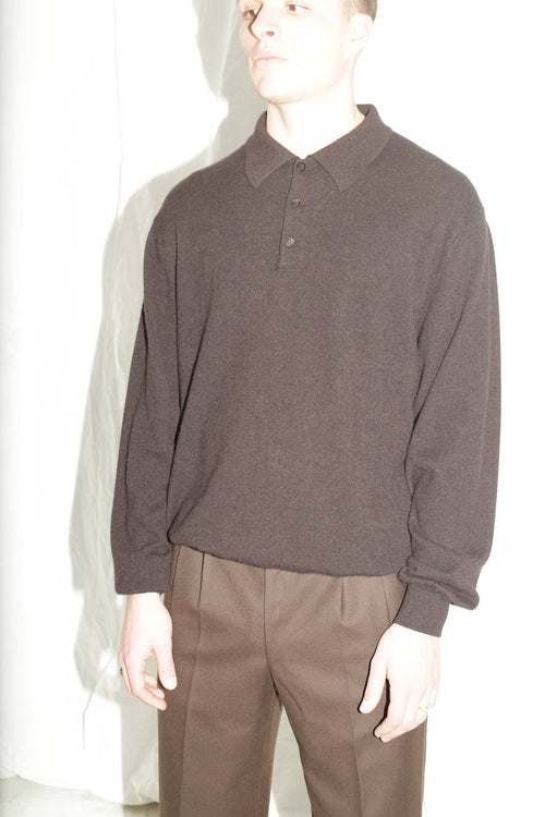 Cashmere Brown Classic Sweater