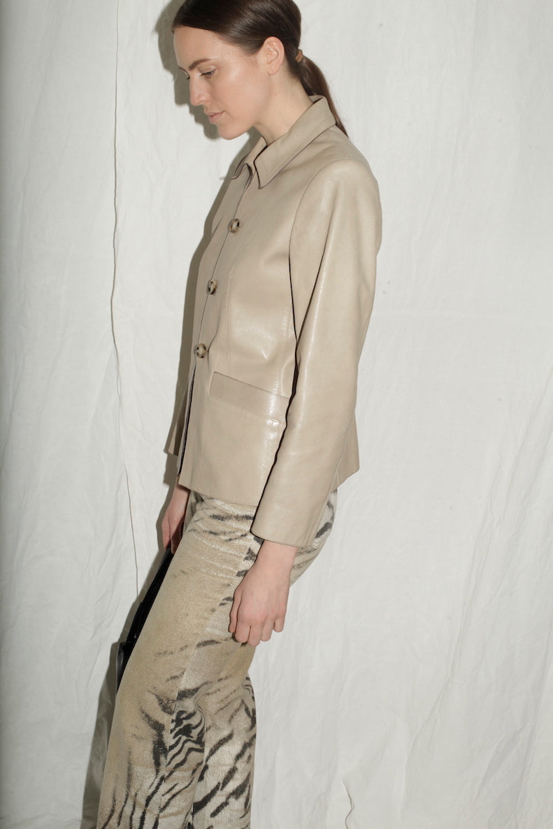 Prada Beige Leather Jacket