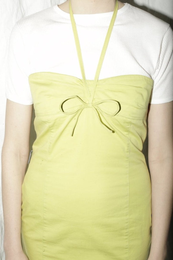 Moschino Limegreen Tube Dress