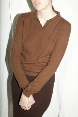 Cashmere Brown Collar Sweater