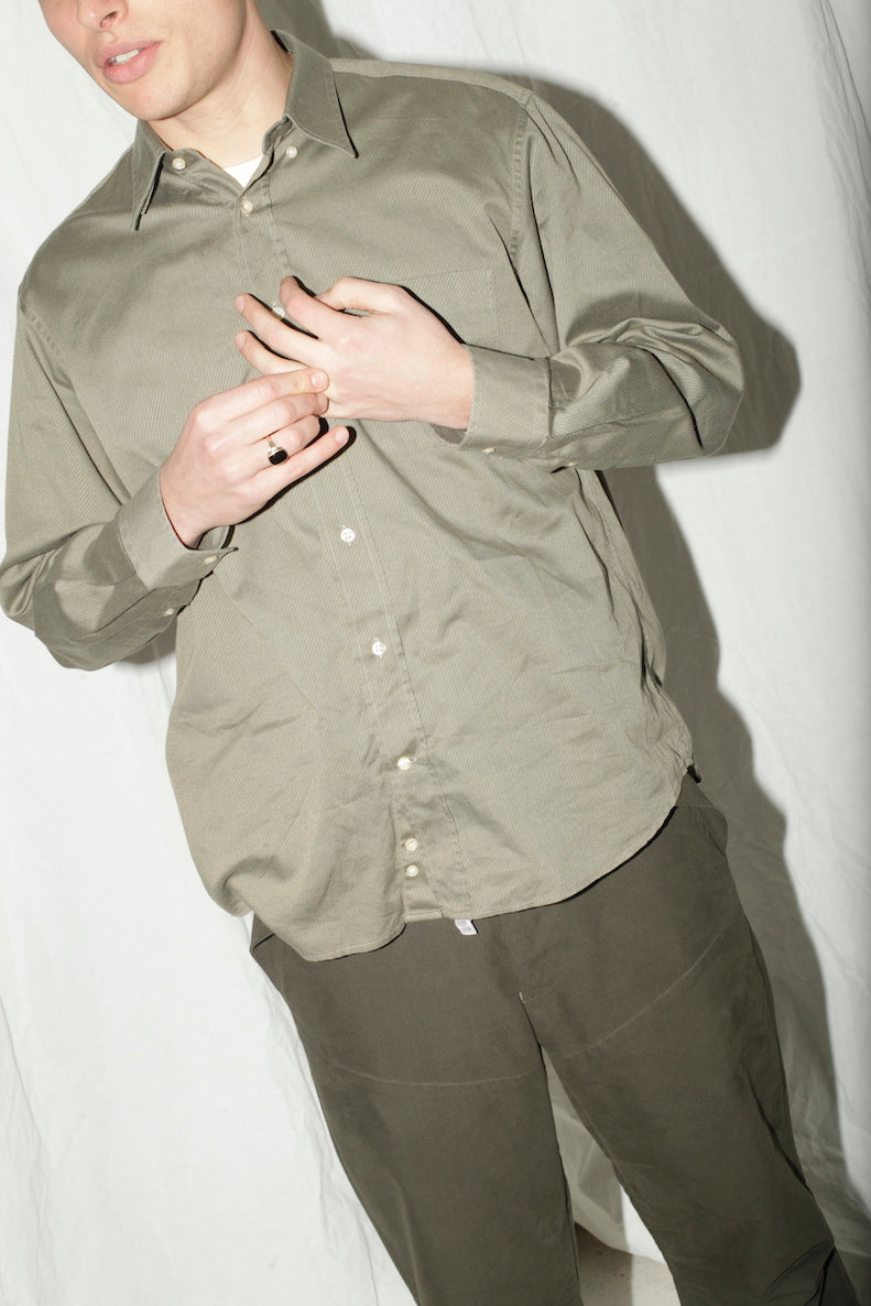 Cacharel Armygreen Cotton Shirt