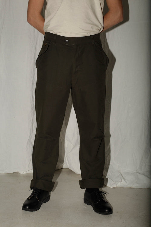 Barbour Armygreen Cotton Trousers