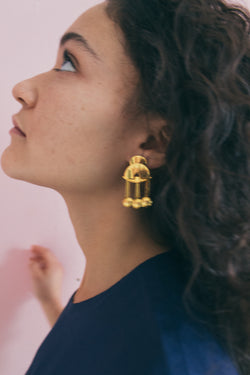 Lizzie Fortunato Gold Plated Temple Earrings