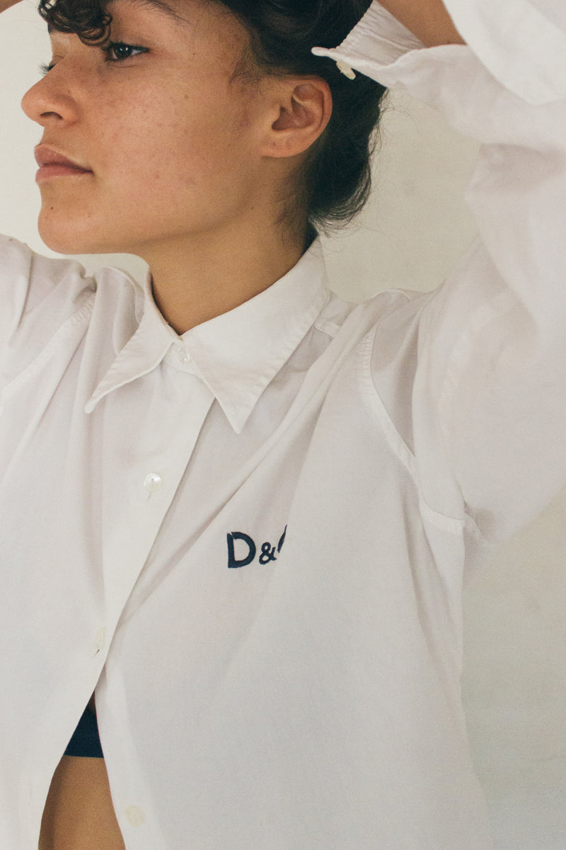 D&G White Shirt With Logo
