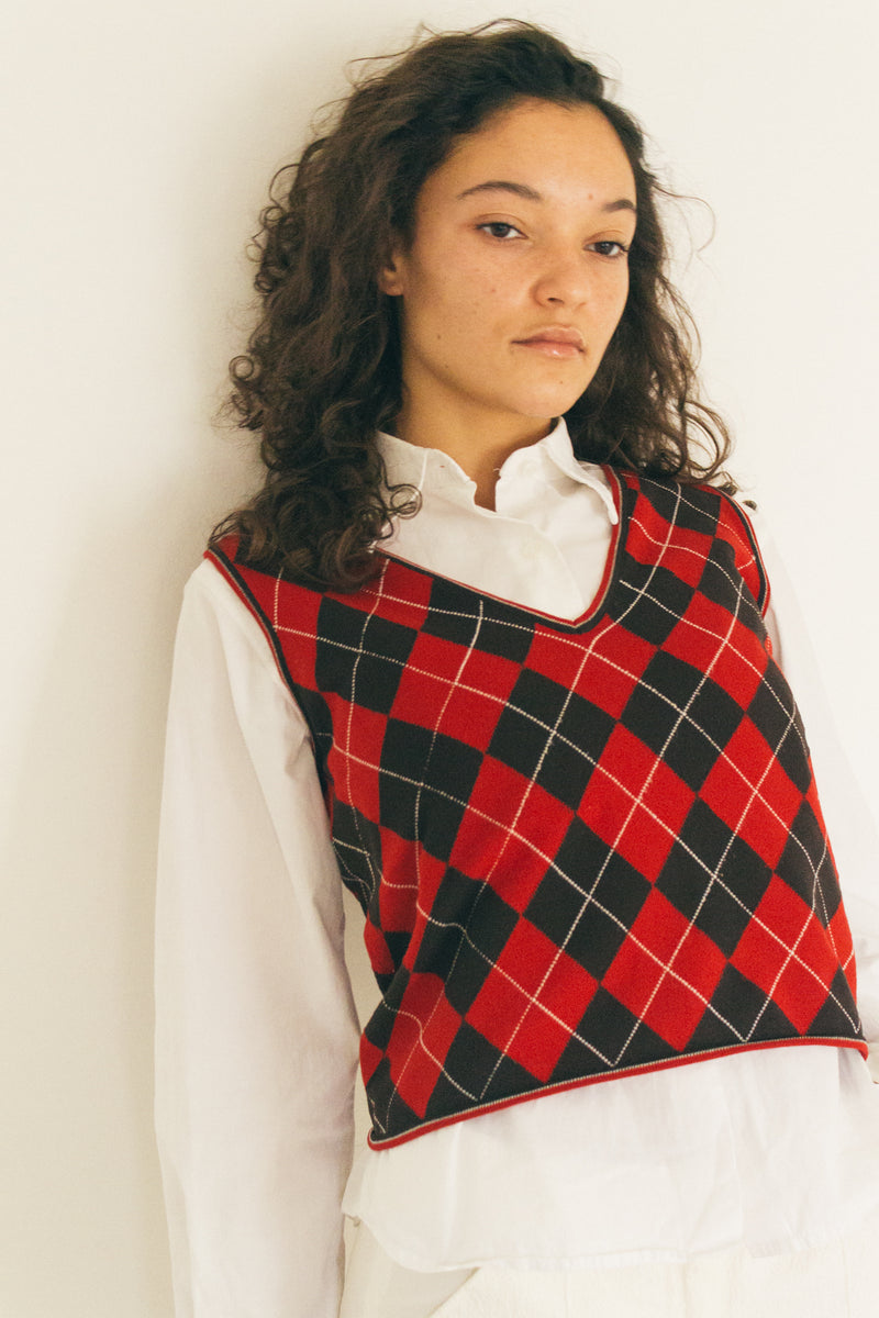 Miu Miu Checked Vest
