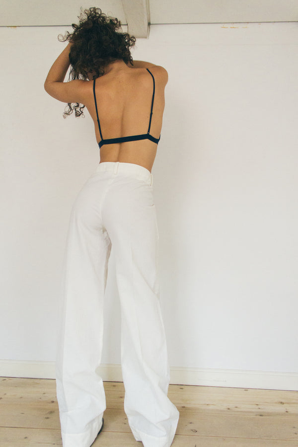 Gianni Serra White High-Waisted Pants