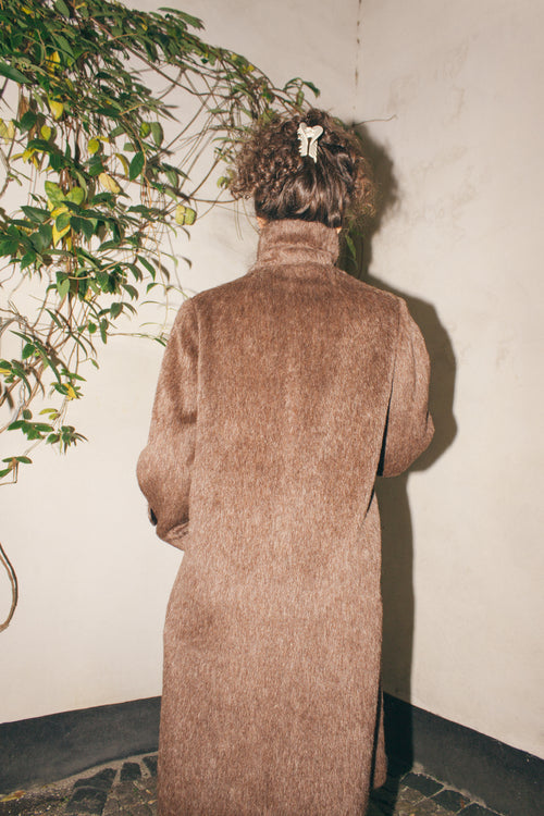 Vintage Dark Brown Wool Coat