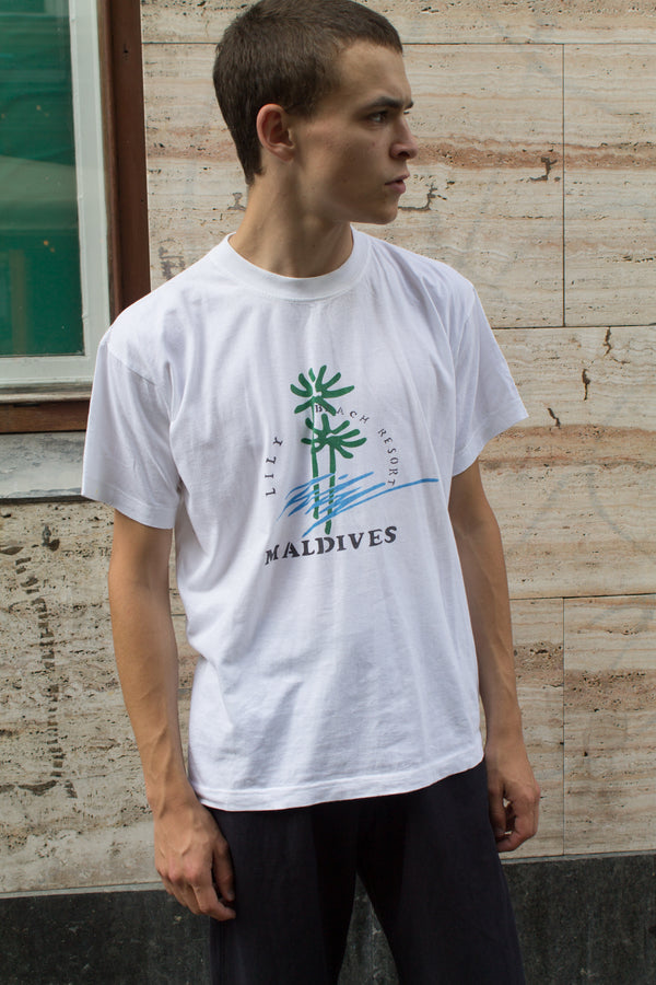 White Maldives Lily Beach T-shirt