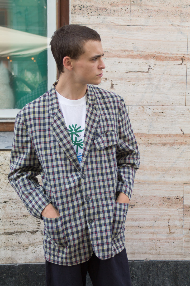 Checked Casual Blazer
