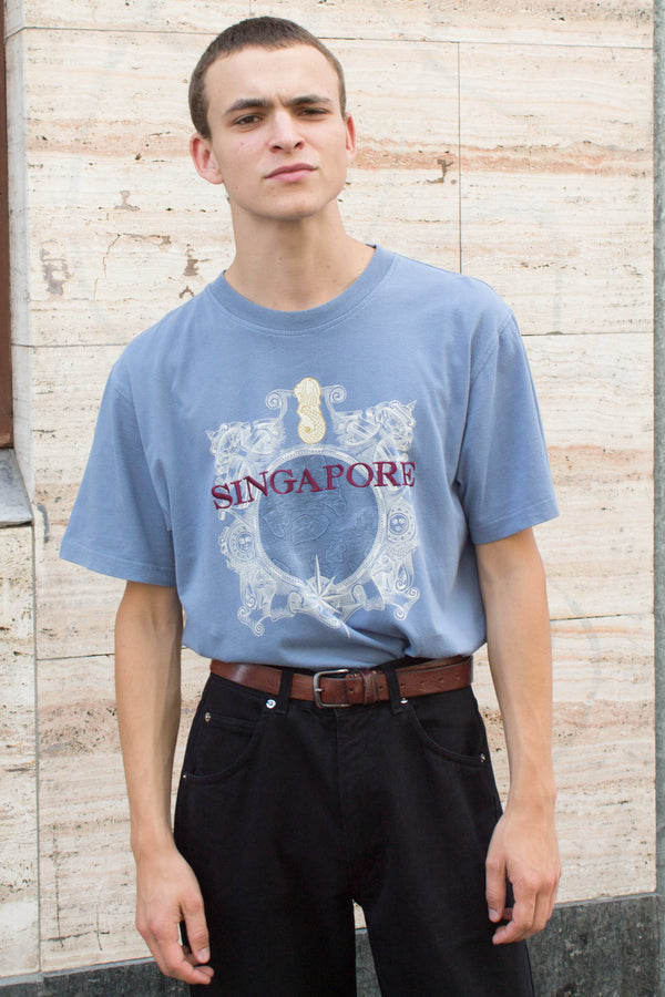 Singapore Dusty Blue T-shirt