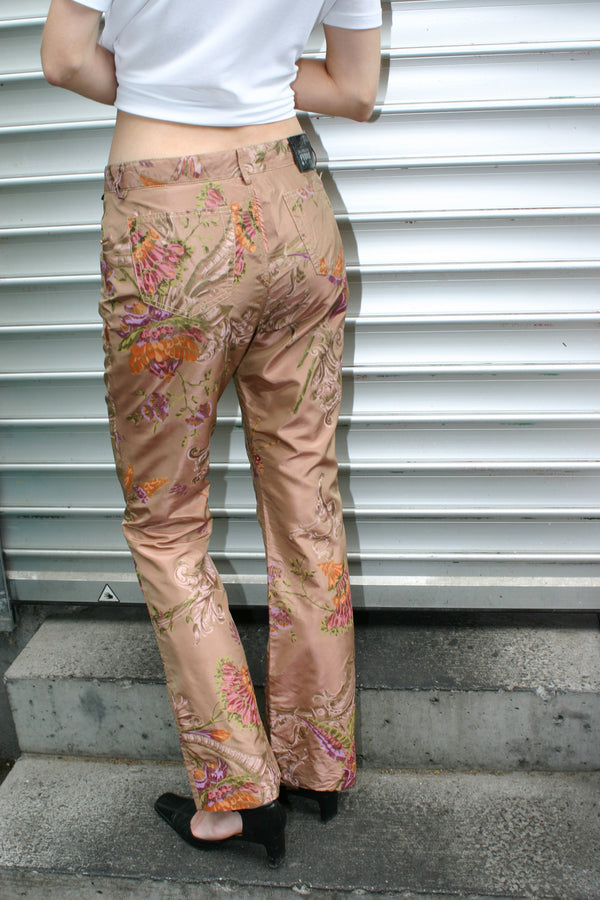 Gianfranco Ferré Flower Silk Trousers