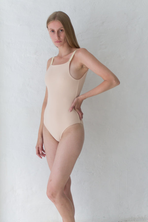Beige Rose One-Piece Swimsuit
