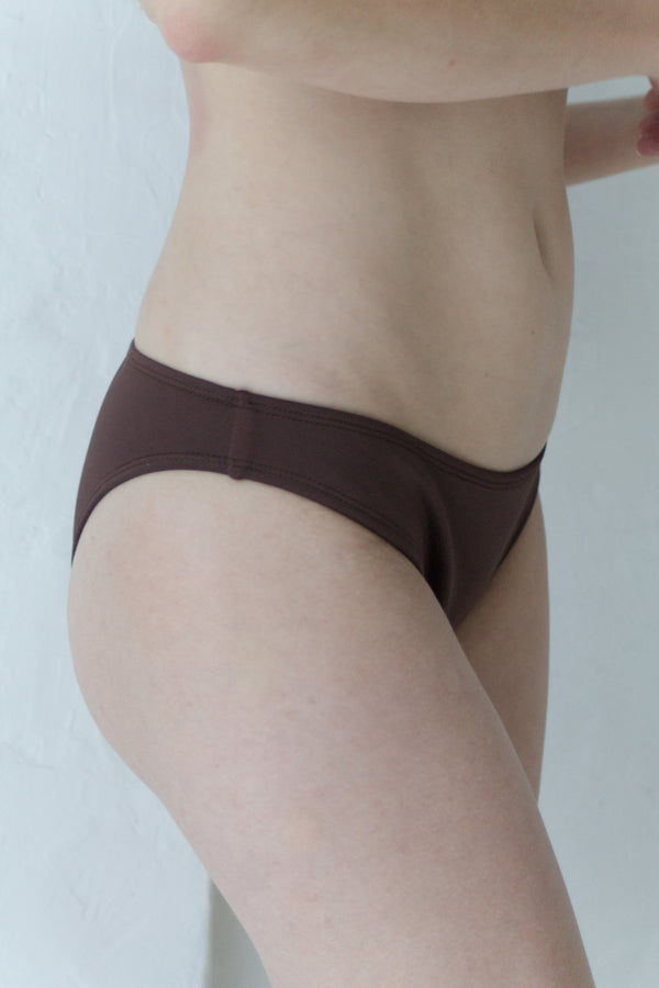 Brown Sporty Bikini Brief