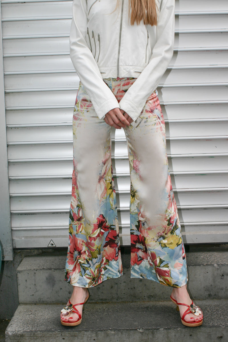 Roberto Cavalli Flower Printed Trousers