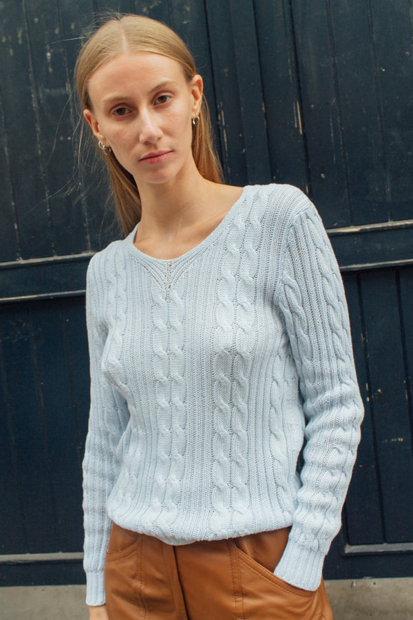 Missoni Light Blue Cable Sweater