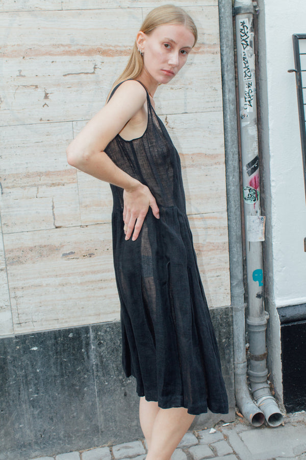 Aspesi Black Linen Dress