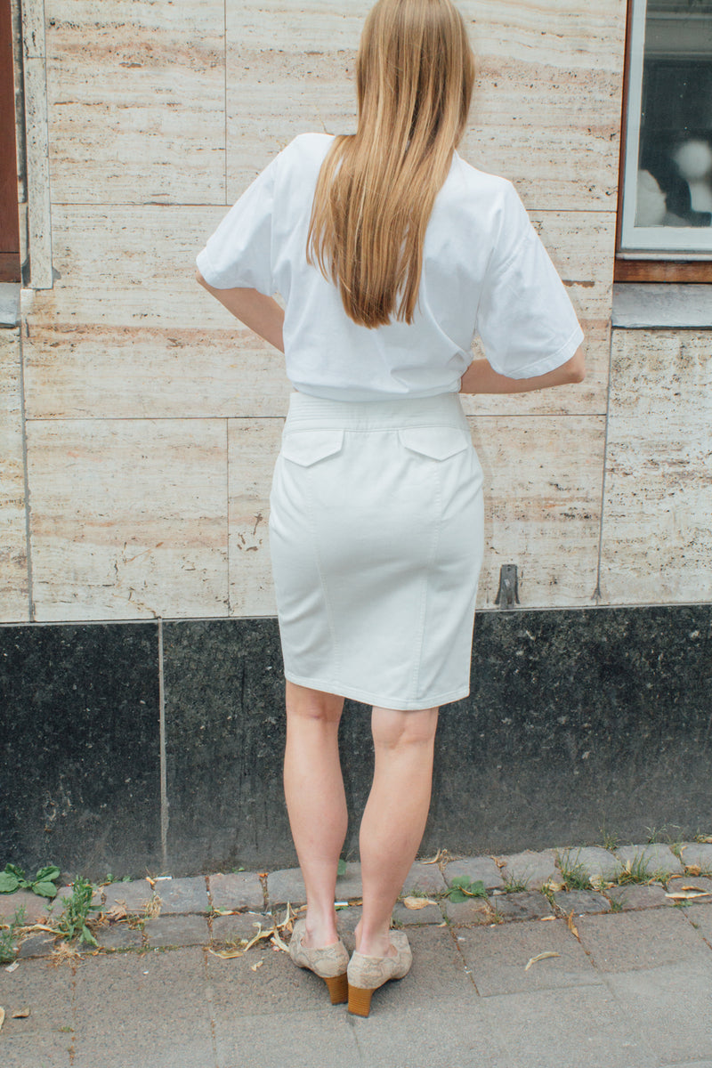 Gucci White Denim Skirt