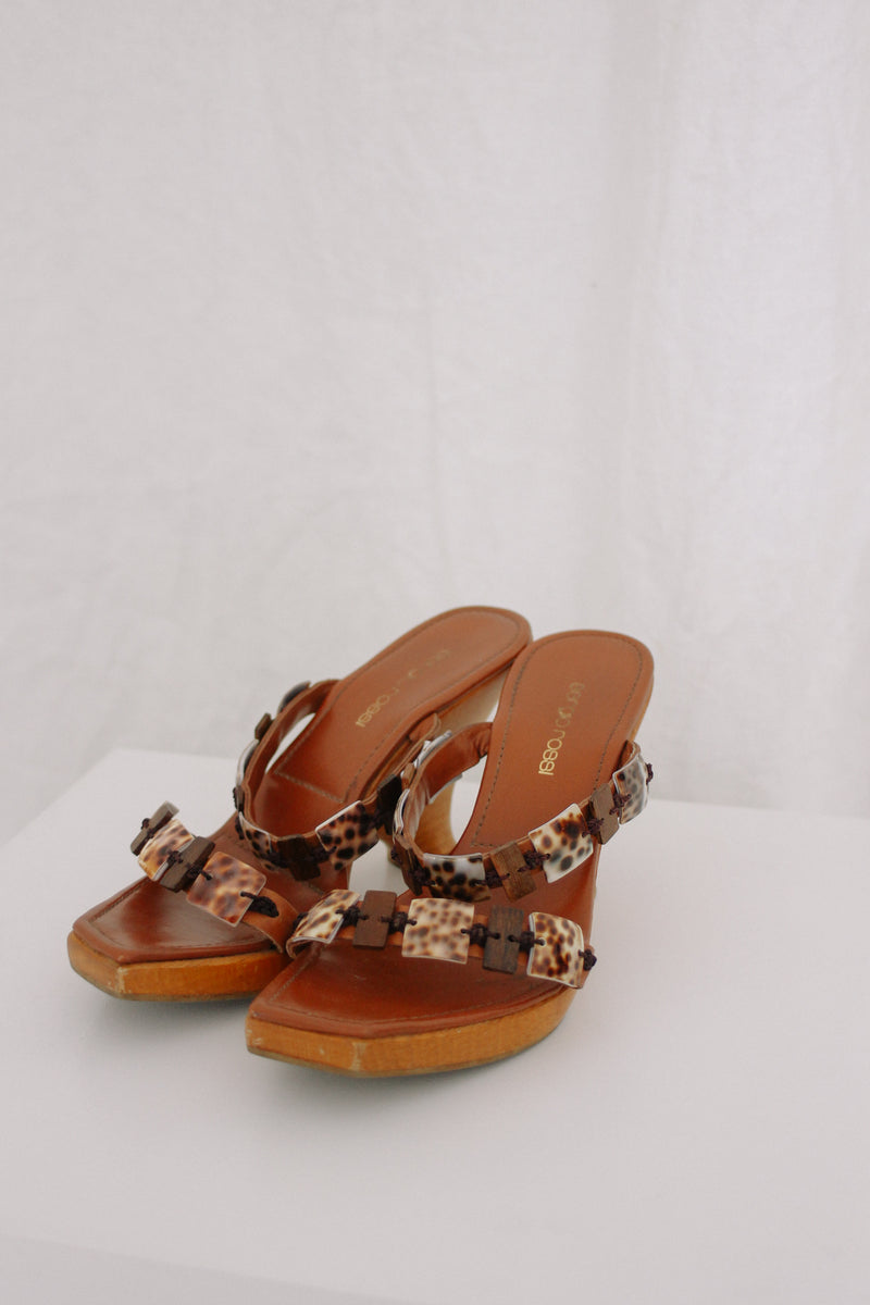Sergio Rossi Wooden Wedges