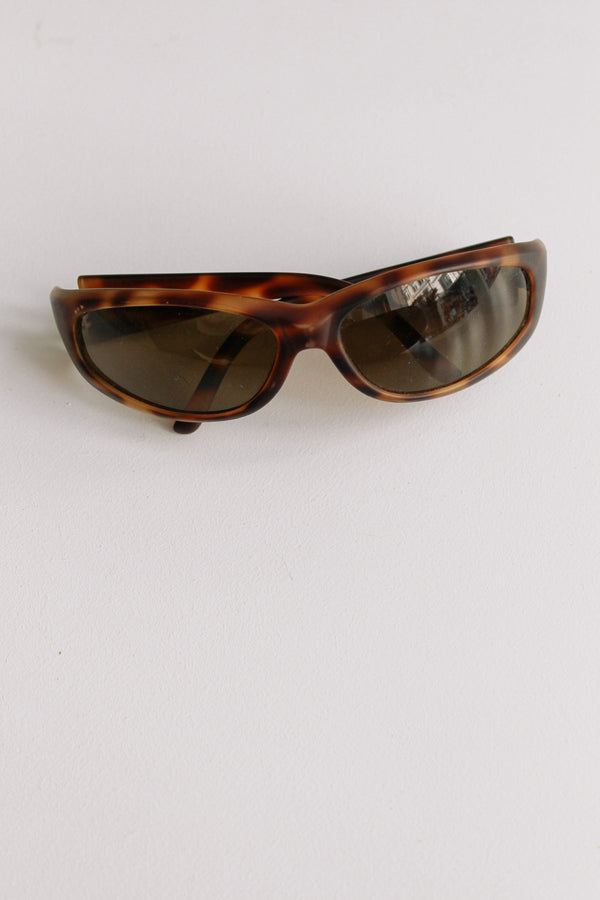Wrap Brown Sunglasses