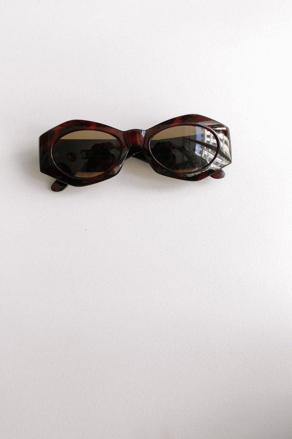 Gianni Versace Brown Tortoise Sunglasses